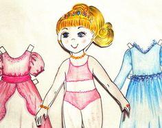 bonecas de papel princesa e fada