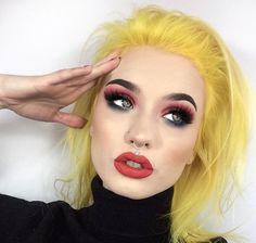 Yellow Hair, Purple Hair, Ombre Hair, Hair Color Wheel, Colour Wheel, Hair Colour, Elegant Hairstyles, Pretty Hairstyles, Neon Hair