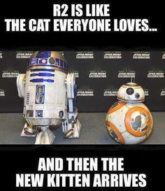 Of course I still love R2, but BB8 truly stole my heart.