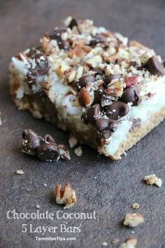 Chocolate Coconut 5 Layer Bars!