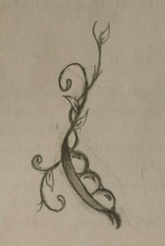 Tattoo... A lot of meaning behind it... My great gram is the stem and my mom, gram, and I are the peas