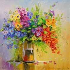 Buy A bouquet of wild flowers, Oil painting by Olha Darchuk on Artfinder. Discover thousands of other original paintings, prints, sculptures and photography from independent artists.