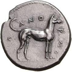 Didracma - argento - Panormos (Palermo) (415-410 a.C.) - cane ritto vs.dx. Π-ΑΝΟ-ΡΜΟΣ - Münzkabinett Berlin