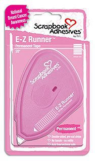 Go Pink!!    Pink E-Z Runner® - Scrapbook Adhesives by 3L donates 5% of sales to the National Breast Cancer Foundation.