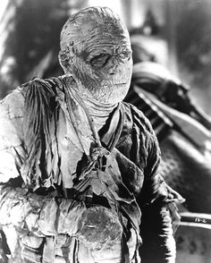 """Lon Chaney, Jr. as Kharis the Mummy in """"The Mummy's Tomb""""."""