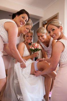 Wedding garter, bridesmaids