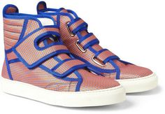 Raf Simons Patterned High Top Sneakers on shopstyle.com