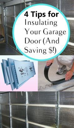 Insulate a garage door cheap diy to save on heating cooling costs 4 tips for insulating your garage door and saving diy diy home projects home dcor home dream home diy projects home improvement inexpensive solutioingenieria Choice Image