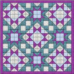The morning star quilt is made using 2 different quilt blocks of the same name - each giving a different sized star for good contrast. Easy quilt blocks.