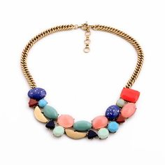 Add some colors to a simple top for an interesting twist. A variety of colorful beads, adds the that oomph factor.