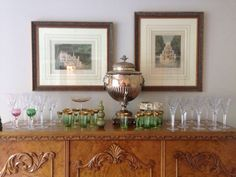 Watercress Springs Estate Sales » Westport Estate Sale - Watercress Springs Estate Sales - 19thc French Console & Waterford Ashbourne Stemware )