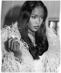 naomi campbell style PART 2 Naomi Campbell for Vogue Italia, February 1995 Photographed by Bruce Weber Fashion Edito Veronica Lake, Claudia Schiffer, Top Models, Women Models, Models Style, Black Models, Female Models, Hairstyles Bangs, Naomi Campbell 90s