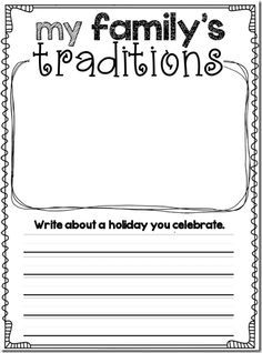 teaching family traditions first grade - Google Search