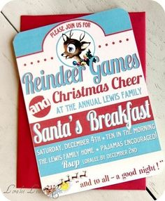 Love this invite for a breakfast or cookie exchange party