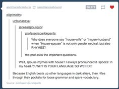 The weird English language