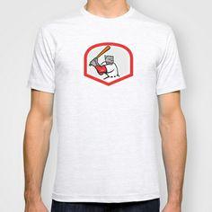 Black Panther Baseball Player Batting Cartoon T-shirt