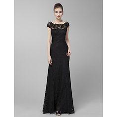 Gaine / colonne bijou balayage / pinceau train robe de soirée en dentelle (B002720) - EUR € 89.99
