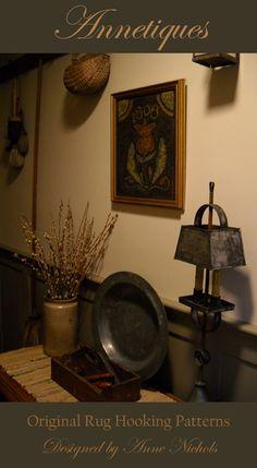 A favorite hooked rug designer, Anne Nichols...