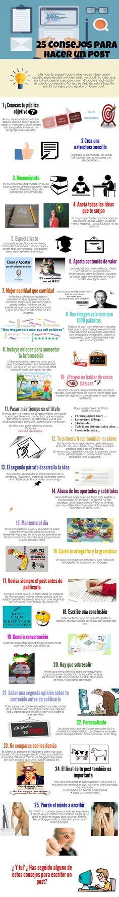 Fuente│Cláudio Inácio: 25 consejos para hacer un post