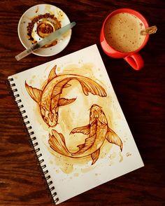 Insane Tricks Can Change Your Life: Coffee Shop Door iced coffee starbucks.But First Coffee Wallpaper coffee morning summer. Coffee Art Drawing, Art Painting, Tea Art, Art Sketchbook, Art Drawings, Drawings, Art, Artwork Painting, Art Class