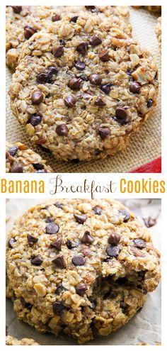 Banana Bread Breakfast Cookies - Baker by Nature