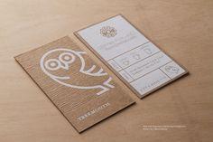 RockDesign.com | High End Business Cards | Brown Kraft Business Card