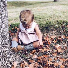 Okay, cute little Oakley found this pile of leaves, which is the first pile of leaves we have found this fall so far , and she sat here playing in them for so long ! It was so cute! Oh and thanks for playing with my girls today! Fall Pictures, Fall Photos, Tatum And Oakley, Kids Fashion, Autumn Fashion, Cute Family, Family Life, Baby Socks, Baby Love