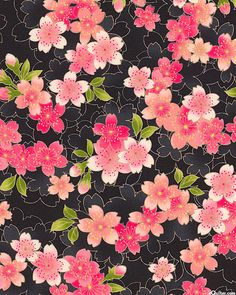 Japanese Cherry Blossom flowers Material for crafts Fabrics for patchwork and quilts Japanese Textiles, Japanese Patterns, Japanese Prints, Japanese Fabric, Japanese Art, Flower Background Wallpaper, Flower Backgrounds, Panda Quilt, Origami