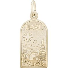 Rembrandt 10K Yellow Gold Noel Charm (11 x 18 mm) -- Review more details…