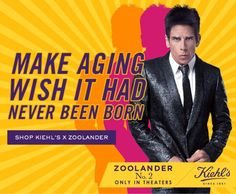 brilliant move by Kiehl's partnering with Zoolander No.2 Zoolander, Celebration Gif, Kiehls, Hilarious, Marketing, Learning, Celebrities, Videos, Movie Posters