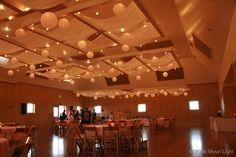 fabric and paper lanterns wedding lights Moon Light Holiday Lighting Overhead Lighting, Holiday Lights, Paper Lanterns, Moonlight, Wedding Day, Wedding Inspiration, Barn, Decorations, Fabric
