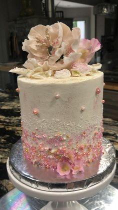 Elegant Birthday Cakes, 18th Birthday Cake, Beautiful Birthday Cakes, Amazing Wedding Cakes, Birthday Cake Girls, Gorgeous Cakes, Pretty Cakes, Cake Decorating Frosting, Cake Decorating Videos