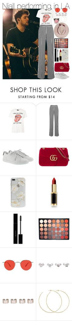 """C"" by larissaglz on Polyvore featuring And Finally, Victoria, Victoria Beckham, Yves Saint Laurent, Gucci, Sonix, L'Oréal Paris, Morphe, Garrett Leight, Christian Dior and Maison Margiela"