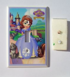 1  Princess SOFIA the First  switch plate  single OR  double. $9.50, via Etsy.