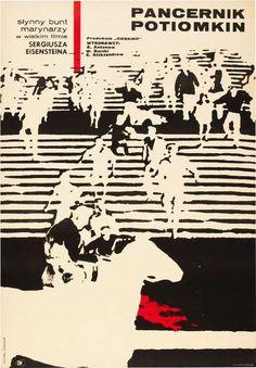 autor plakatu: Stanislaw Zamecznik tytuł: Pancernik Potiomkin reż. Sergiej Eisenstein