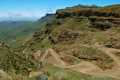 Icon of the Southern Drakensberg, the famous Sani Pass between SA and Lesotho is one of the few vehicle-access routes onto the great uKhahlamba escarpment. Road Conditions, Roads, South Africa, Vehicle, Challenges, Adventure, Travel, Viajes, Road Routes