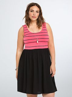 9796d3d6ef72f Stripe Scoop Tank Dress