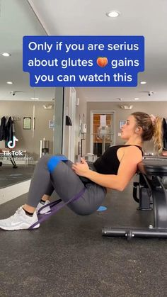 Leg And Glute Workout, Band Workout, Gym Workout Videos, Gym Workout For Beginners, Fitness Workout For Women, Waist Workout, Fitness Goals, Fitness Tips, Workout Challenge