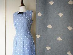 vintage I'm your biggest fan BLUE dress sz S by honeycombvintage, $68.00