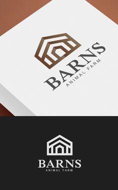 Barns - Animal Farm Logo Logo Design Template, Custom Logo Design, Custom Logos, Logo Templates, Writer Logo, Property Logo, Letter M Logo, Entertainment Logo, Farm Logo