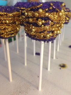 12 Chocolate Covered Marshmallow Treats by ChasingPinkFireFlies, $15.00 Glam Mallows Mardi Gras Treats Wedding Favors Party Favors Sweets Table Candy Buffet