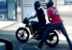 Em Araçuaí, assaltantes utilizam do capacete para dificultar identificação nos crimes