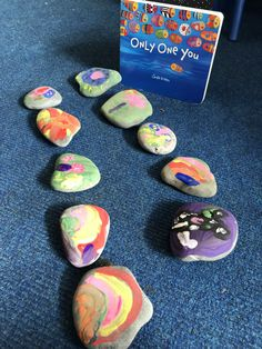 All about me rocks 💜💜 #EYFS #earlyyears #rocks