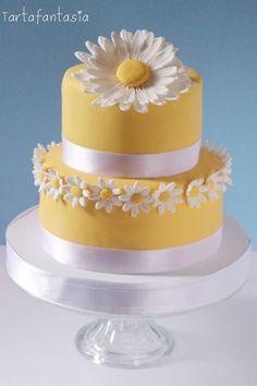Pretty Cakes, Cute Cakes, Beautiful Cakes, Amazing Cakes, Mini Cakes, Cupcake Cakes, Daisy Cakes, Cake Tutorial, Unique Recipes