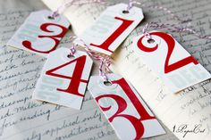Tags for December Daily journals, Project Life and mini albums. $9.95, via Etsy.