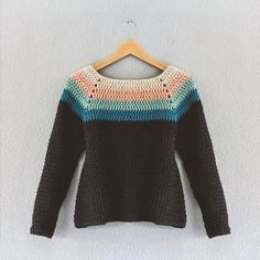 Free Crochet Sweater Pattern For Women Pull Crochet, Mode Crochet, Crochet Jumper, Crochet Diy, Crochet Jacket, Crochet Woman, Crochet Cardigan, Crochet Shawl, Crochet Stitches