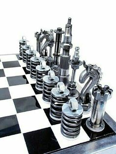 A great chess set for the Mechanically Inclined.