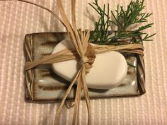 Pottery Soap Dish Hand crafted Pottery Tray von MillStreetPottery