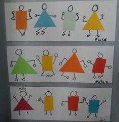 Drawing For Kids, Art For Kids, Crafts For Kids, Art Montessori, Arte Elemental, Kindergarten Art Lessons, Math Art, Shape Art, Art Lesson Plans