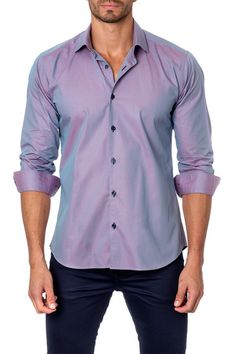 Long Sleeve Solid Semi-Fitted Shirt